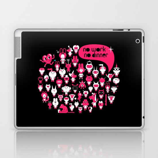 no work no dinner : idokungfoo.com Laptop & iPad Skin