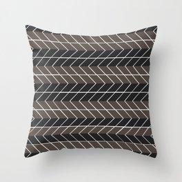 Non-conformist Black Chevron Pattern #society6 Throw Pillow