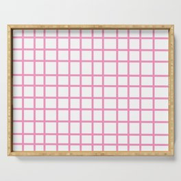 Pink Grid Serving Tray