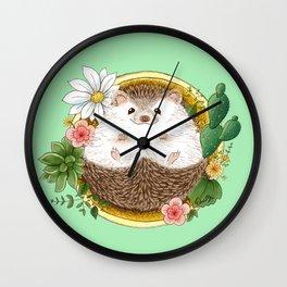 Hedgehog with cactus Wall Clock