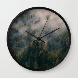 Fog Forest Wall Clock