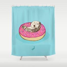 Otter in Donut Shower Curtain