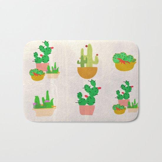 Cacti Festival Bath Mat