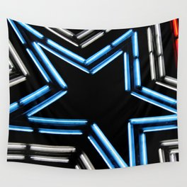 Neon Star Wall Tapestry