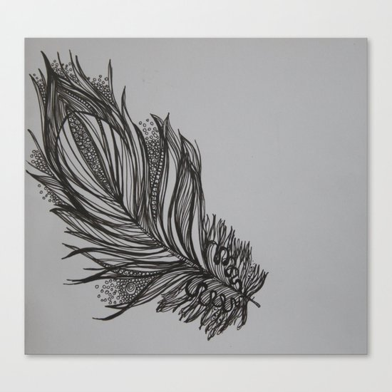 Zen feather Canvas Print