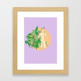 amongst the basil Framed Art Print