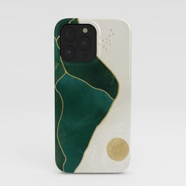 Mt Hood Emerald Mountain Abstract iPhone Case