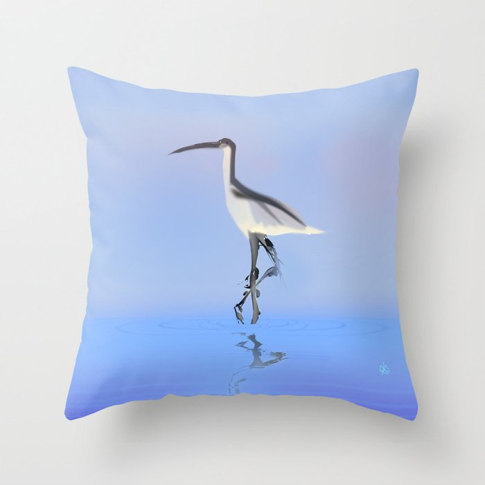 Avocet Throw Pillow