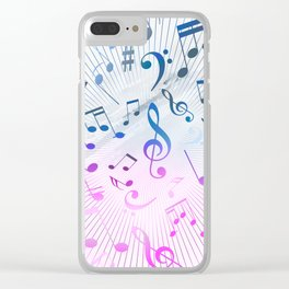 Musical Notes Clear iPhone Case