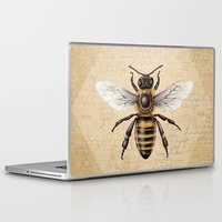 bee Laptop & iPad Skins featuring Bee by Paper Skull Studios