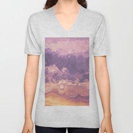 Gold violet pattern Unisex V-Neck