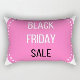 Black Friday sale icon : Stylish marketing Icon Pink! Rectangular Pillow