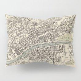 Vintage Map of Glasgow Scotland (1872) Pillow Sham