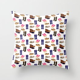 Preppy Shoes Throw Pillow
