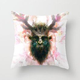 Woodwose - Spirit of the Forest Throw Pillow