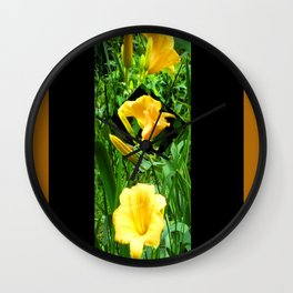 Flora Gold II Wall Clock