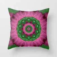 burgundy Throw Pillows featuring Burgundy by IowaShots