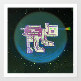 Spatial Bot Dog Art Print