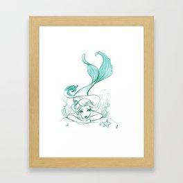 Seaweed Mermaid Framed Art Print