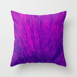 Electroshock Magenta Throw Pillow