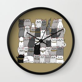 The Glaring - Scandinavian Palette Wall Clock