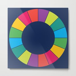 Multicolor Slices of Circle Metal Print