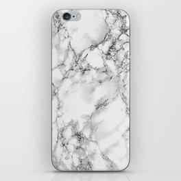 white marble IV iPhone Skin