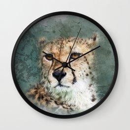 Abstract Cheetah Wall Clock