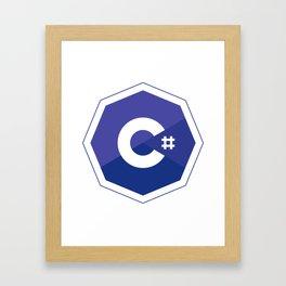 c# developers logo dot net Framed Art Print