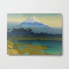 Sunrise (Asahi), Views of Mount Fuji Vintage Beautiful Japanese Woodblock Print Hiroshi Yoshida Metal Print