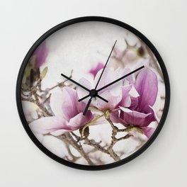 Magnolia Breeze Wall Clock