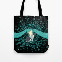 vocaloid Tote Bags featuring MikuMiku2 by gohe1090