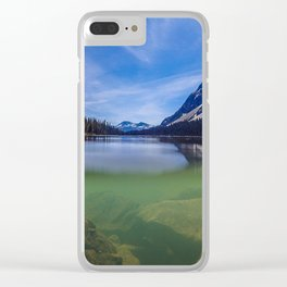 Boom Lake Reflection Clear iPhone Case