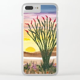 Beautiful Ocotillo 1 Clear iPhone Case