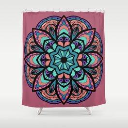 Mandala Pinks & Blues  #GraphicArt #SpiritualArt Shower Curtain