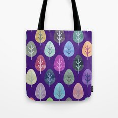 Watercolor Forest Pattern II Tote Bag