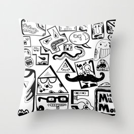 Little Musket Monsters Throw Pillow