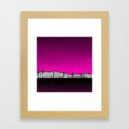 Kenai Mountains Framed Art Print