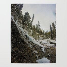 Bridal Veil Falls in Jasper National Park, Alberta Poster
