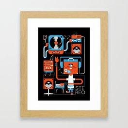 Stereo Found Framed Art Print