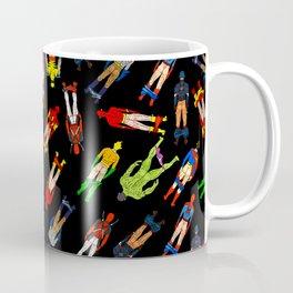 Superhero Butts Pattern (Dark) Coffee Mug