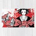 GEISHA - Japan | Vector | Manga | Blood | Kimono | Butterfly | Kabuki | Anime | Vector by gianlucalucchese