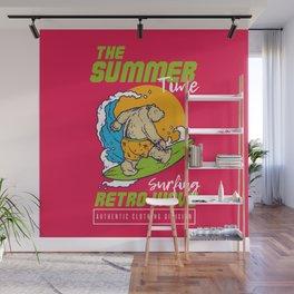 Surf Bear Wall Mural