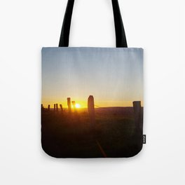 Walk in the evening Tote Bag