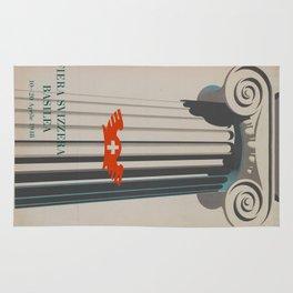 Vintage poster - Fiera Svizzera Basilea Rug