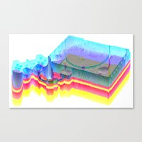 playstation Canvas Prints featuring Sony Playstation by Jpeg Artifact