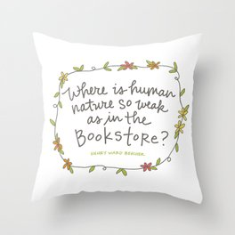 Bookstore Throw Pillow