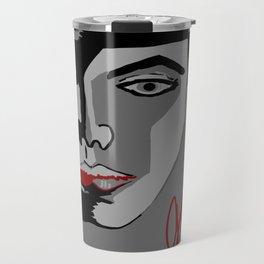 Red Strokes Travel Mug
