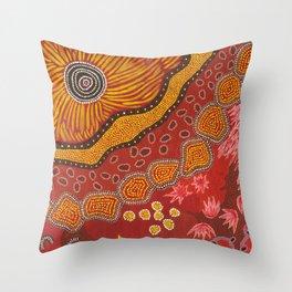 Aboriginal summer Throw Pillow