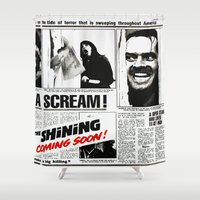 shining Shower Curtains featuring Shining by Maioriz Home